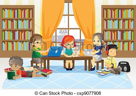 Library clipart digital library Stock clipart library  157