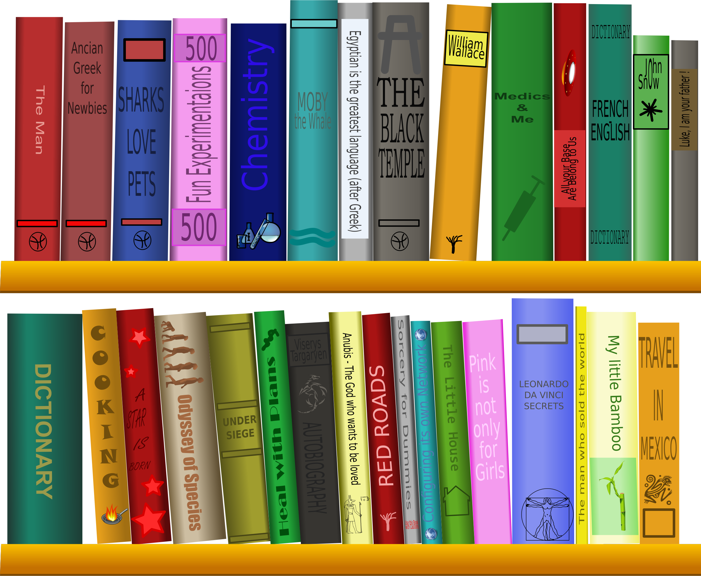 Library clipart bibliotheque Titles Clipart titles to paths