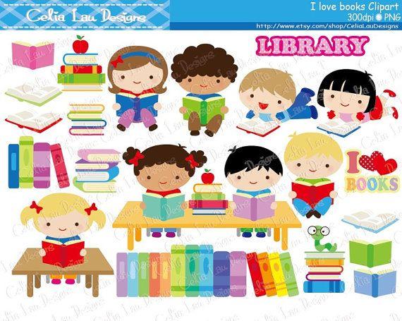 Library clipart bibliotheque Clipart / bibliothèque /Back à