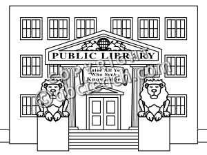 Library clipart black and white #oxygenmonitor All Clipart White Black