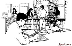 Library clipart black and white Clipart clipart Download library black