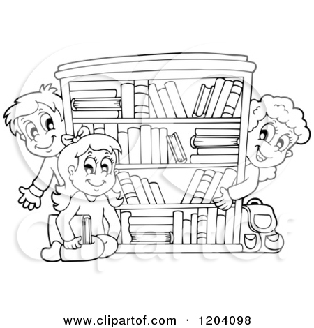 Library clipart black and white White School 86548 School Clipart