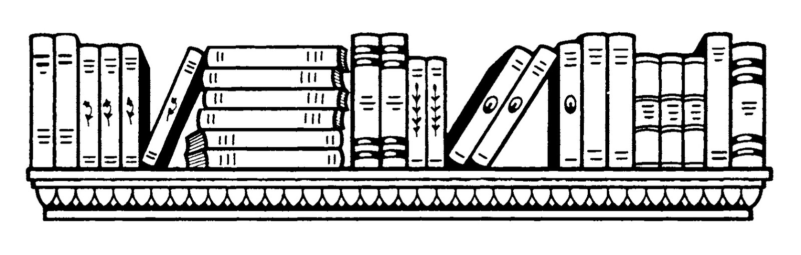 Library clipart black and white Clipart 10832 Clipart and black