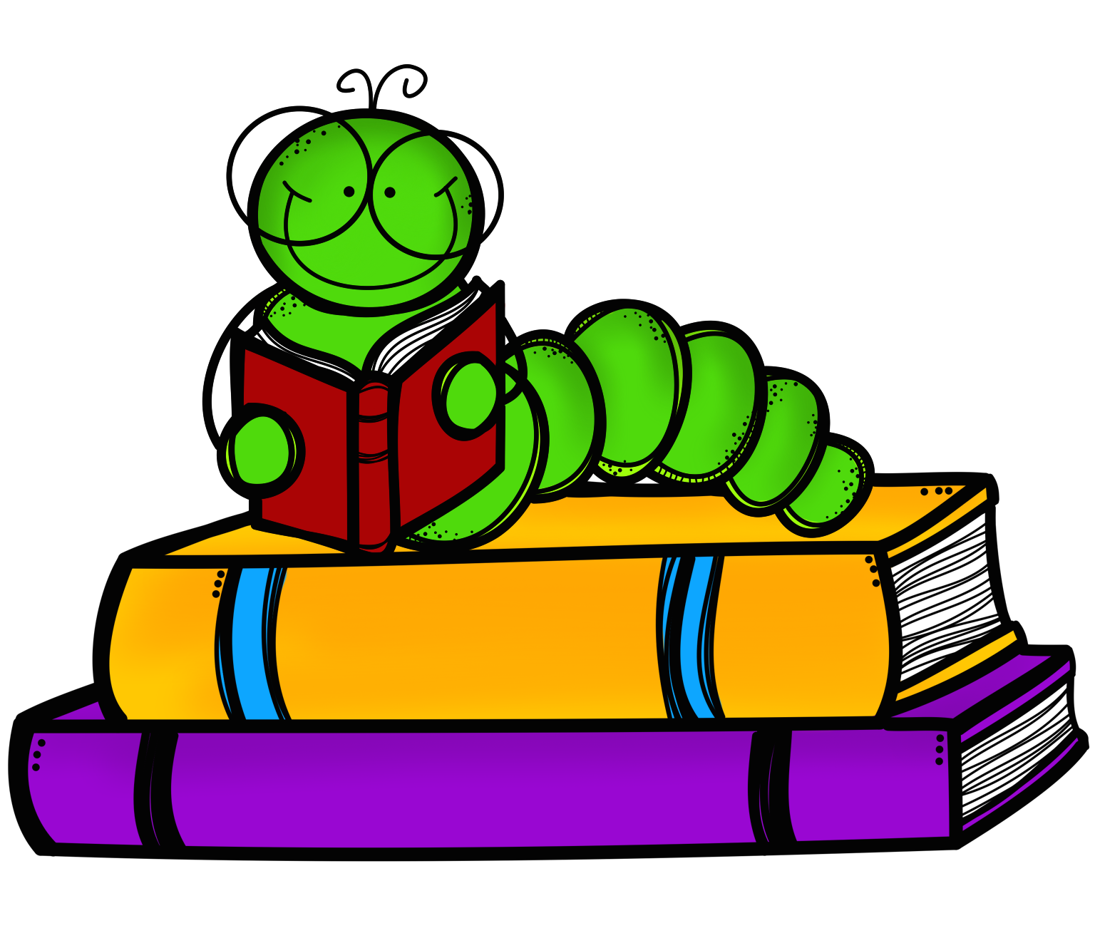 Bobook clipart literacy Stack Clipart With Onto Worm