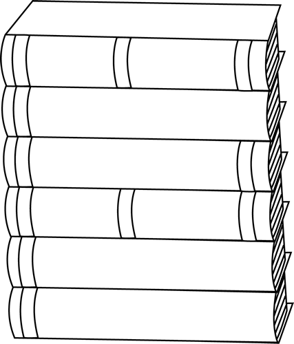 Book clipart side view Clip Art Books Stack Black