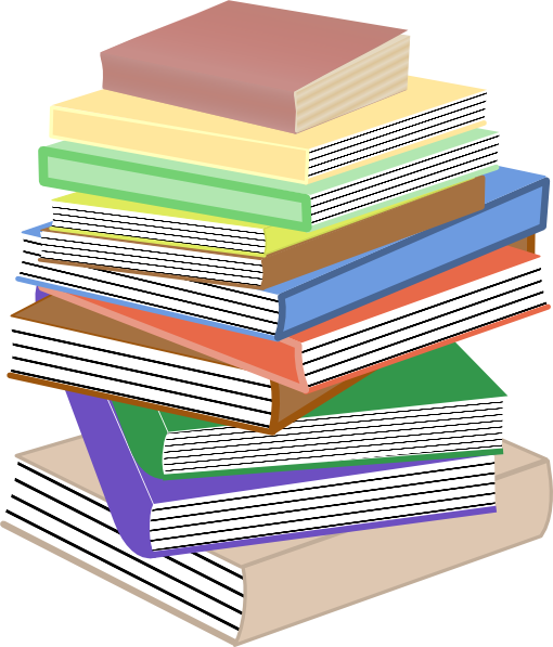 Library clipart book stack Clip Stack Books  Art
