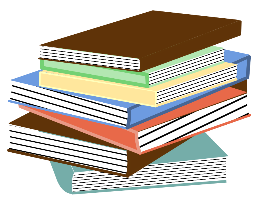 Library clipart book stack  Clipart Art Free Clipart