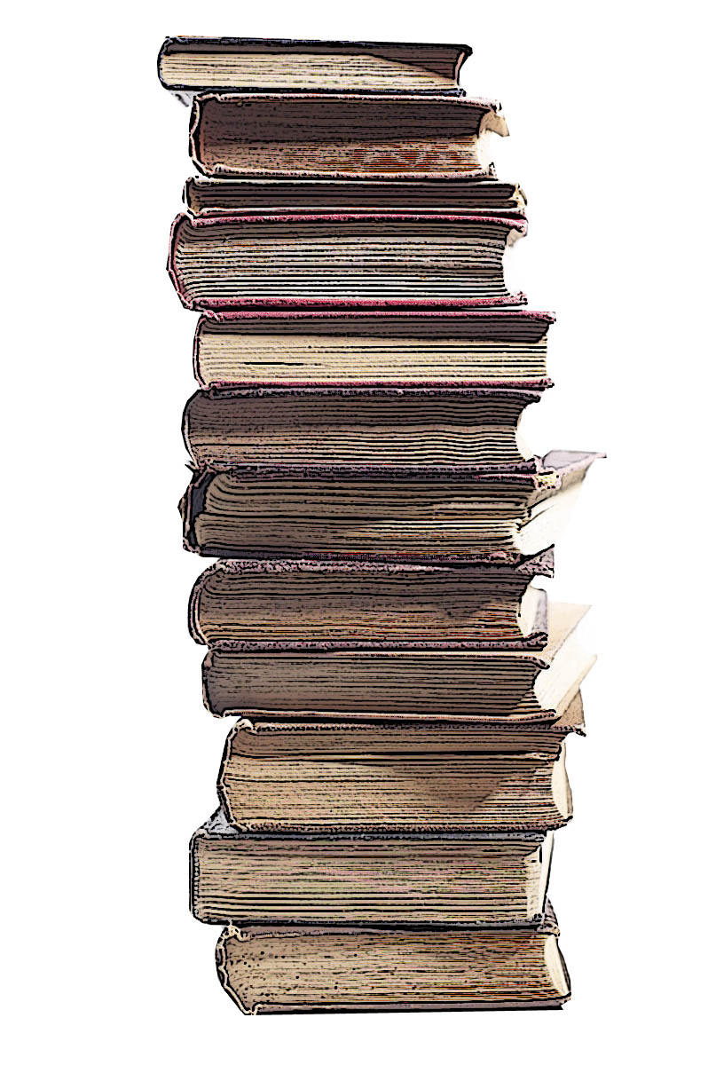 Library clipart book stack Vintage of Stack Art Books
