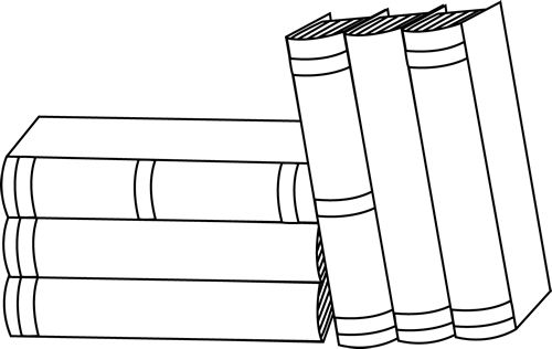 Library clipart book stack Clipart black Free Image Clip