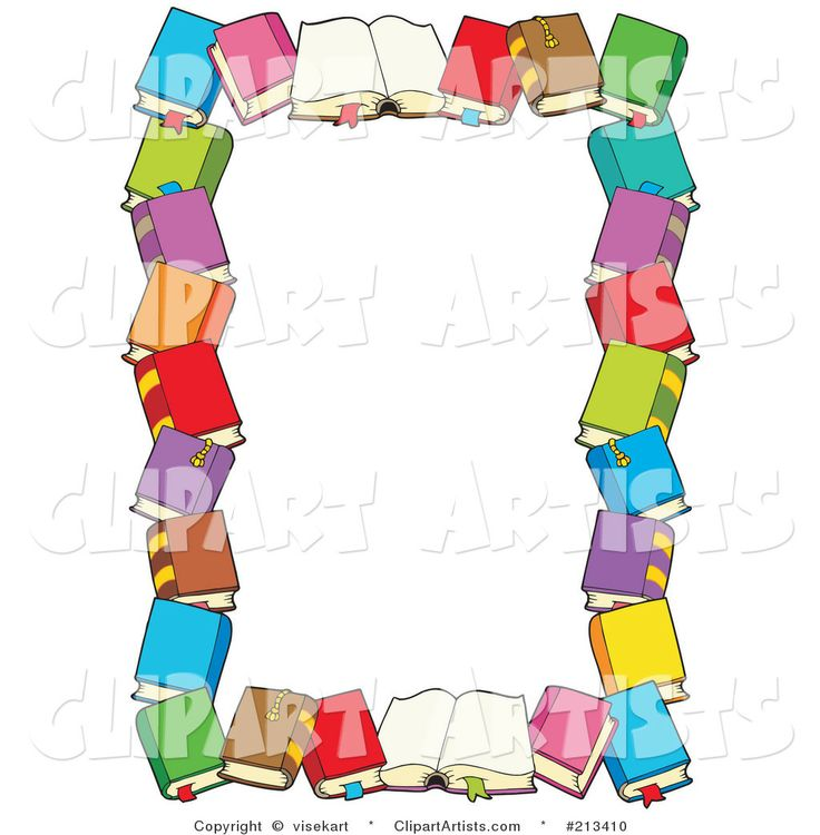 Library clipart border clip art Larger images Book by best