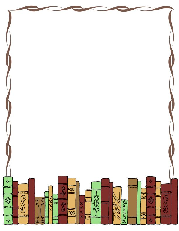 Library clipart border clip art Art Free  FREE Books