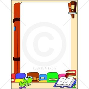 Library clipart border clip art More 8 on Find resolution
