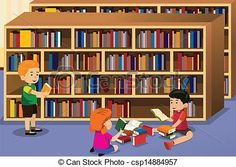Library clipart boy In in teaching  resources