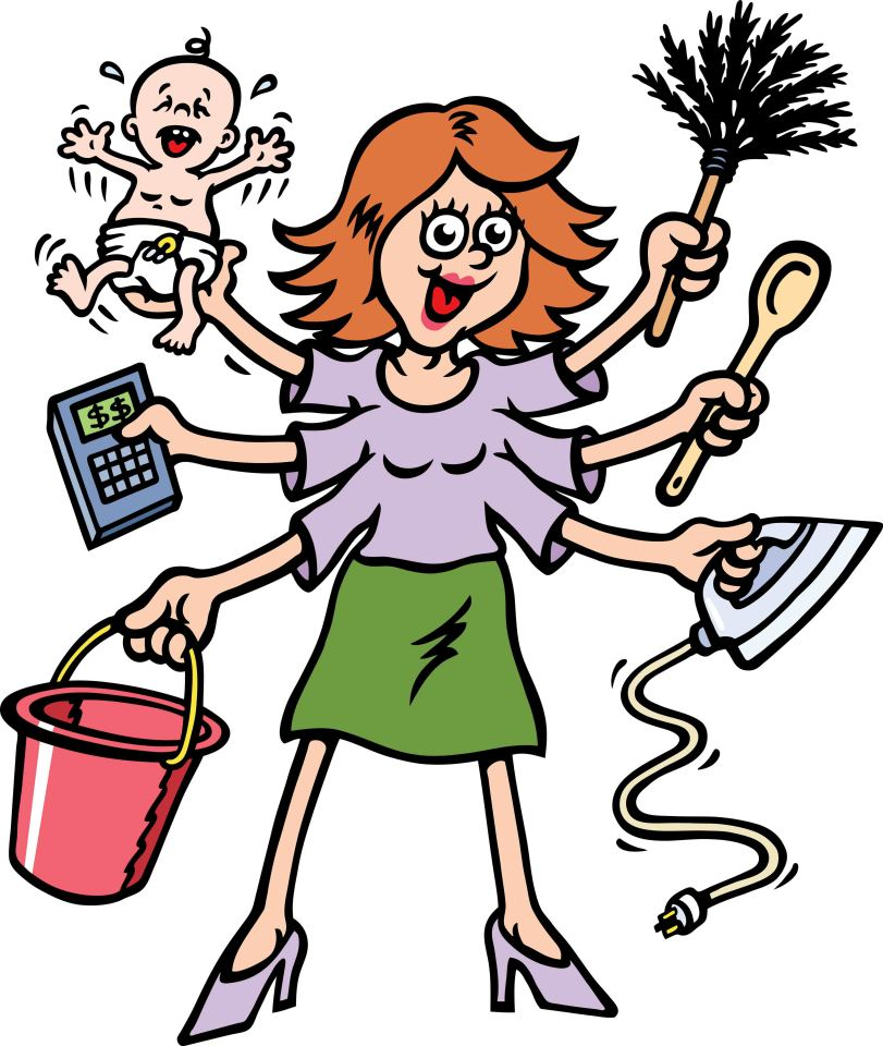 Library clipart busy Free Mom Art Clip Art