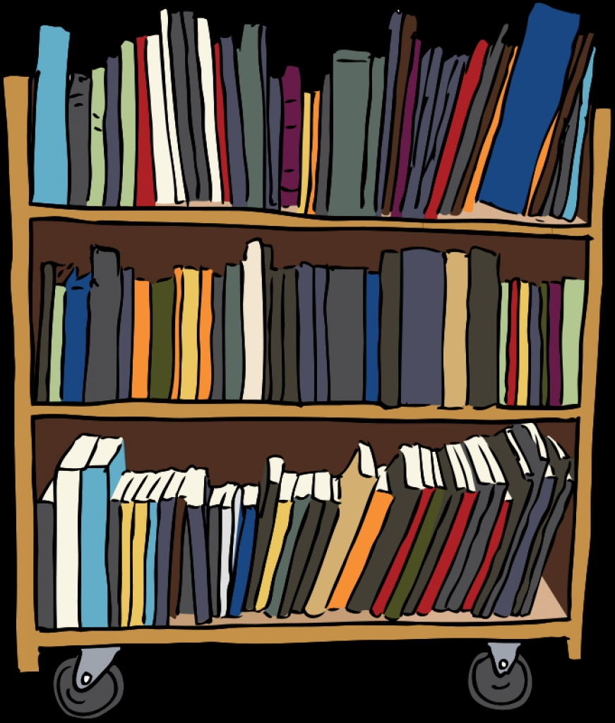 Library clipart cart Cart library clip throughout cart