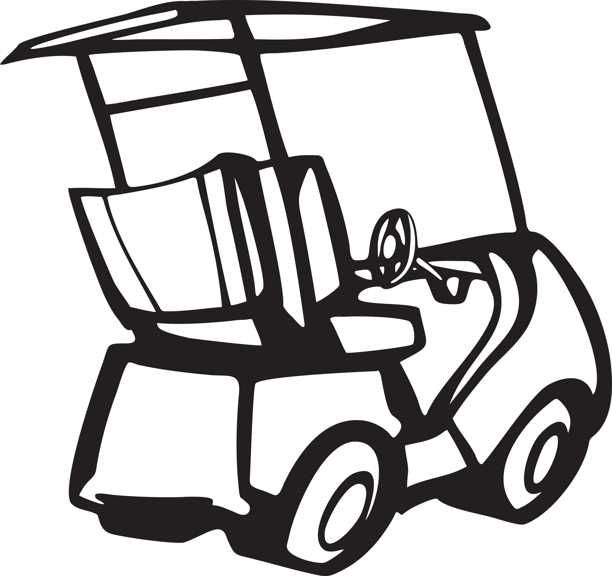 Cart clipart black and white Pictures Cart Art on Cart