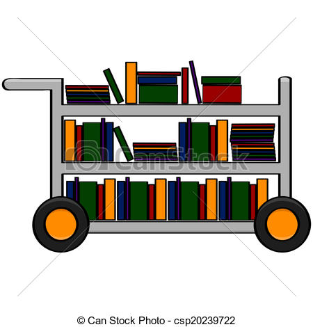 Library clipart cart Library Cartoon cart Library showing