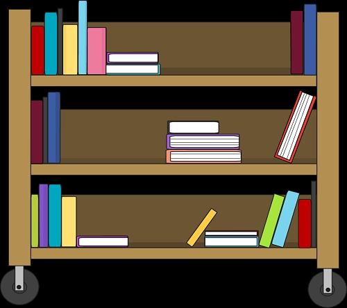 Library clipart cart Clip book art clip 50