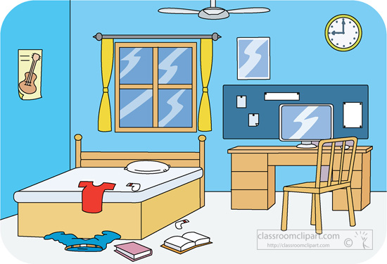 Bed clipart badroom Art Clip Cleaning clipart Art