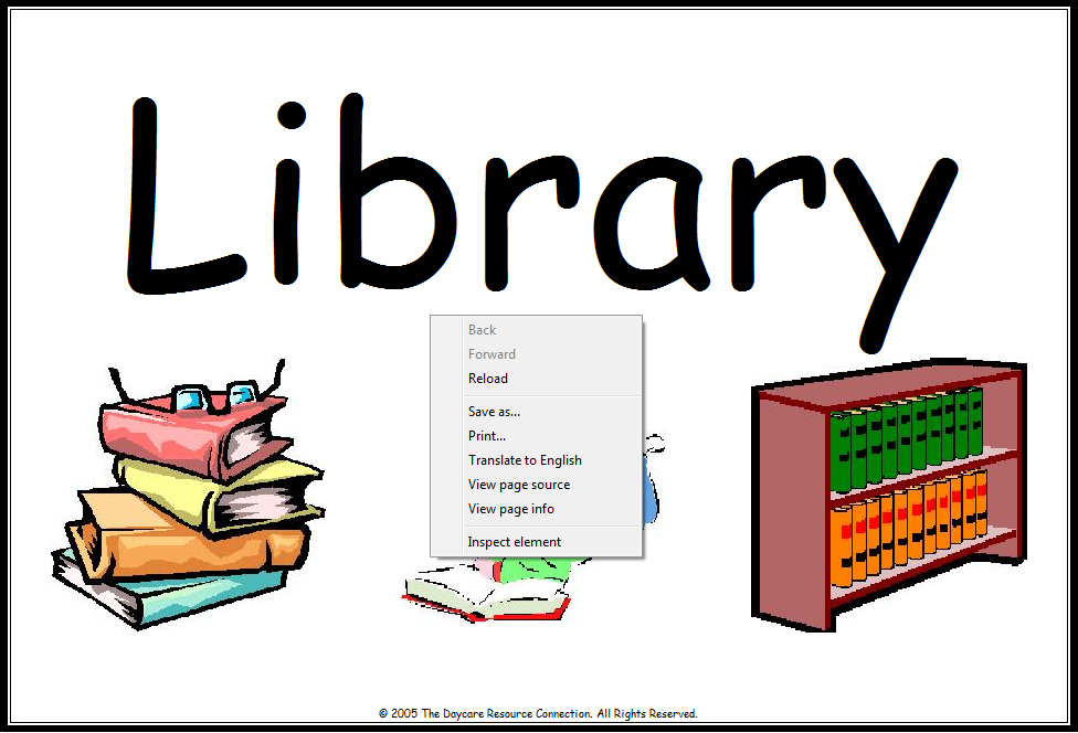 Library clipart classroom library Free Art Clip  Picture