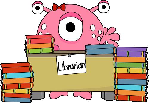 Desk clipart librarian Monster Monster Art FreeClipart Clip