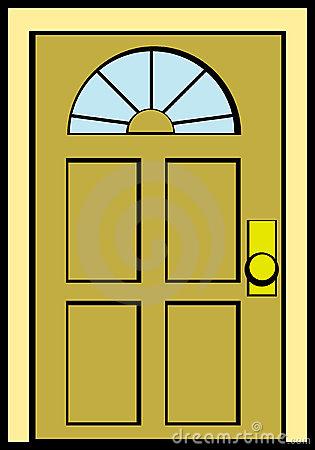 Doorway clipart wood door #1