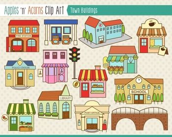 Place clipart community building Art Clip Art Buildings Download
