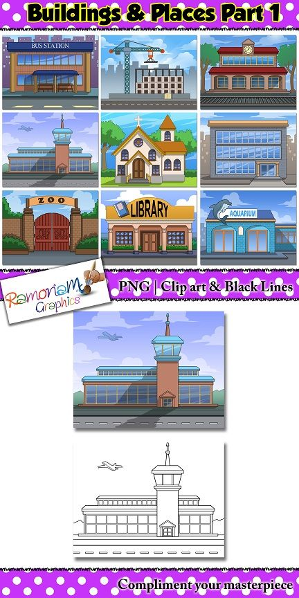 Library clipart different place Buildings Pinterest the different 40