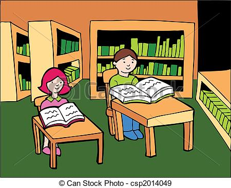Library clipart graphic Reading girl Stock Illustration of