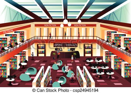 Library clipart graphic Library illustration EPS Vectors