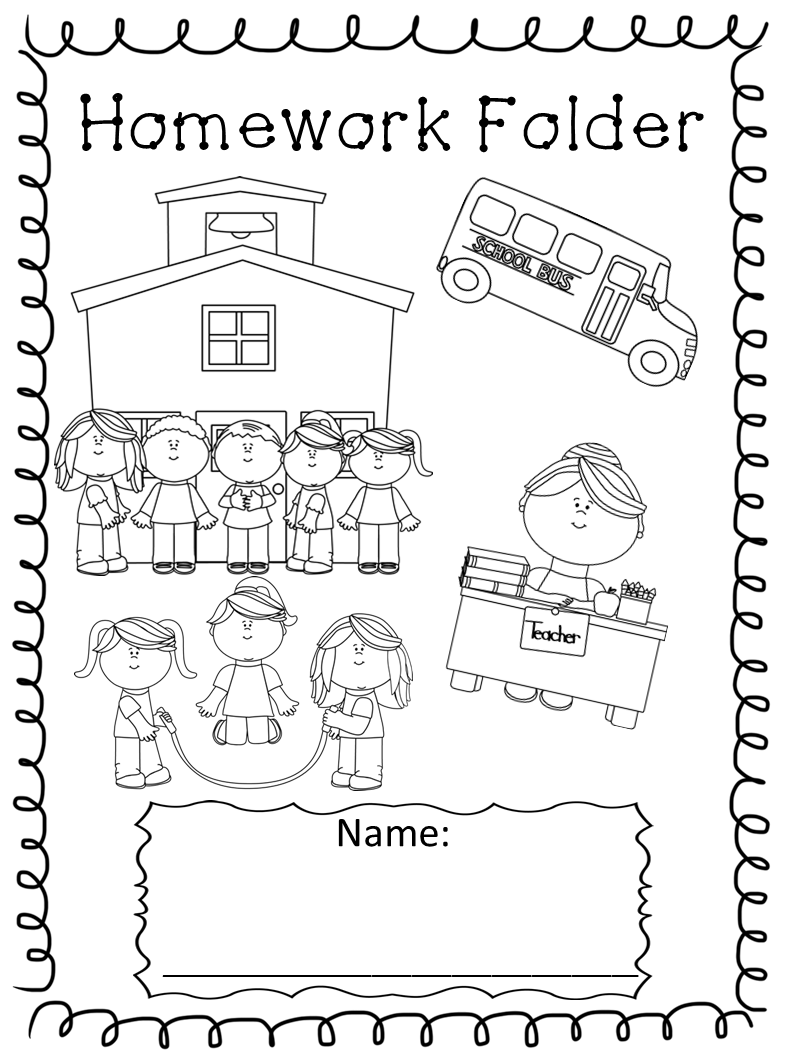 Library clipart homework folder Folder these Covers Kindergarten reference