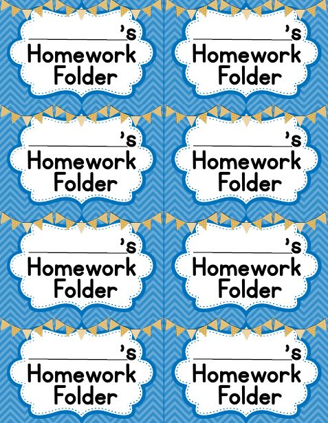 Library clipart homework folder Back Folders Daily and Student