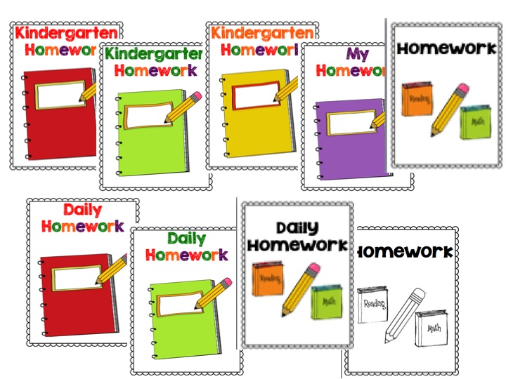 Library clipart homework folder 4 Binders You and Kindergarten: