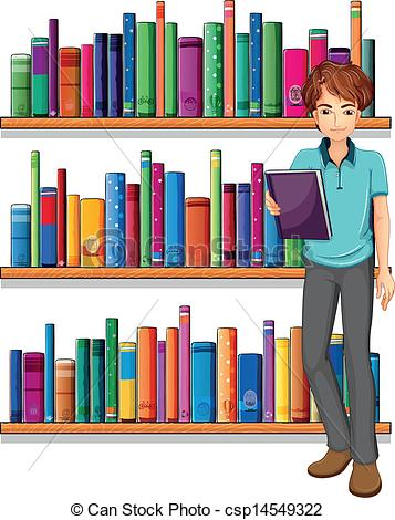 Library clipart illustration Of A  the in