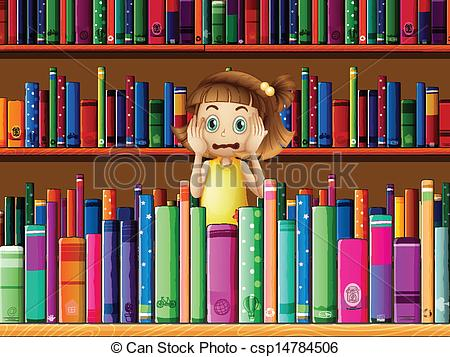 Library clipart illustration Csp14784506 Vector in library little