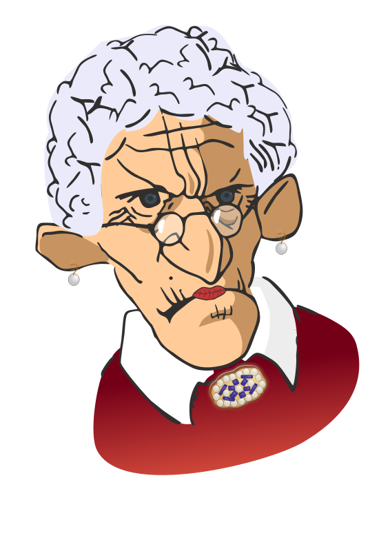 Scary clipart old lady #2