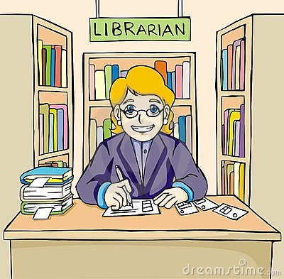 Library clipart librarian  Collection clipart Library library
