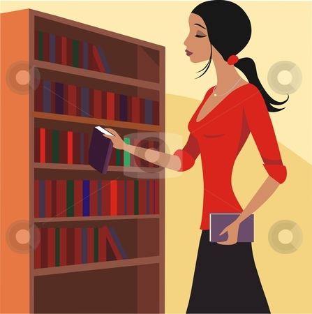 Women clipart librarian Librarian Librarian vector stock