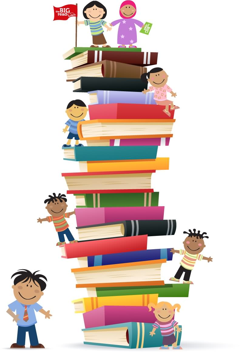 Library clipart literacy day Books Beautiful Art Art And