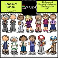 Library clipart lunchroom People At TeachersNotebook Bundle com
