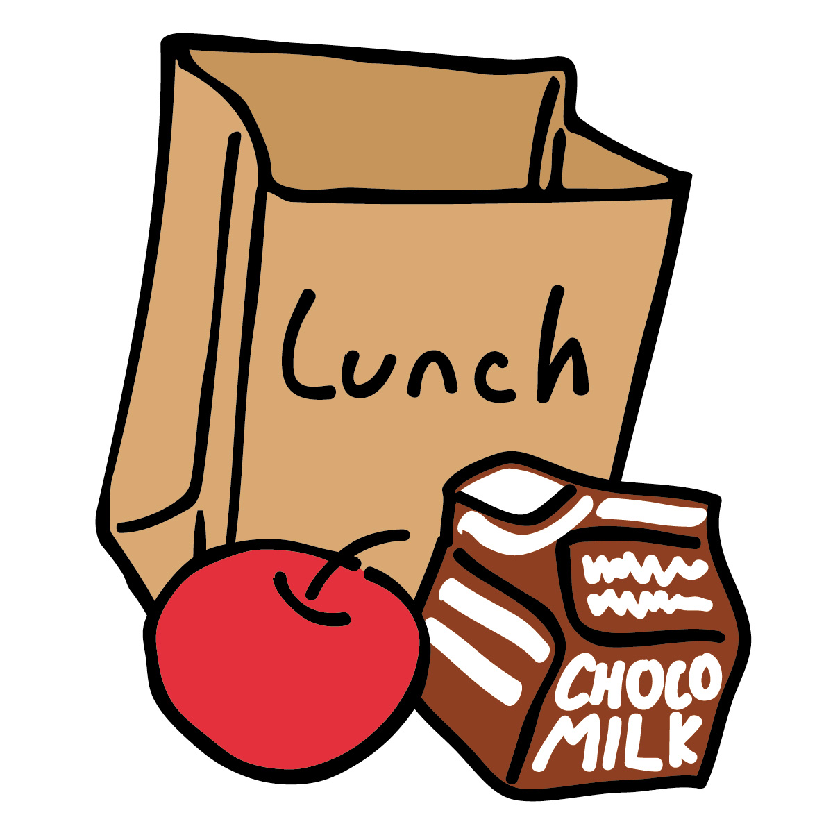 Library clipart lunchroom Lunch bag Center School Children's