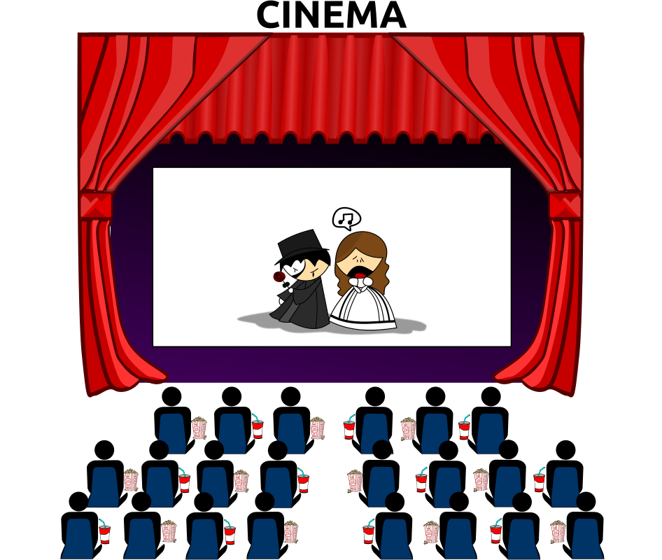 Library clipart movie theater building Art theater Art Building