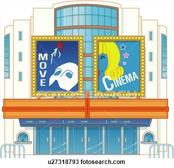 Library clipart movie theater building Theater Art building Download Free