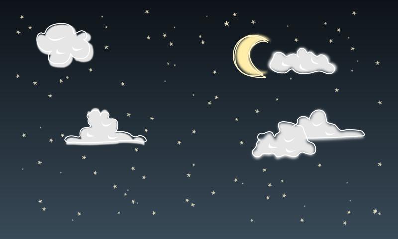 Night clipart moon star Art Sky Night Cliparts
