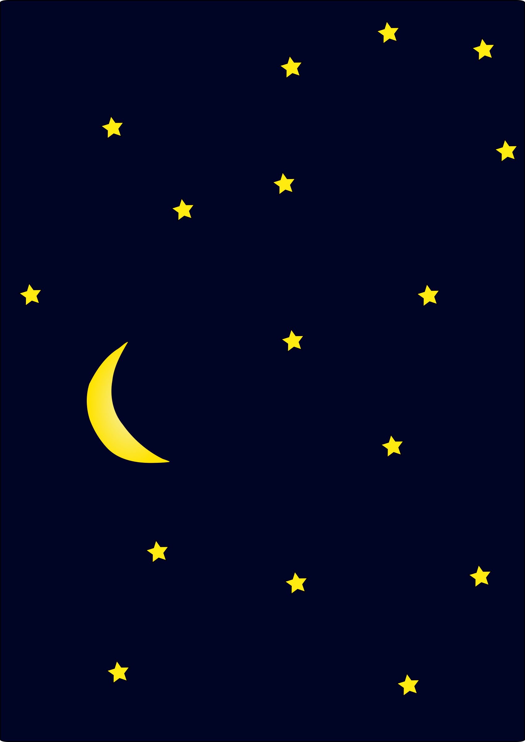 Night clipart moon star Clip Clipart Cliparts Night Library
