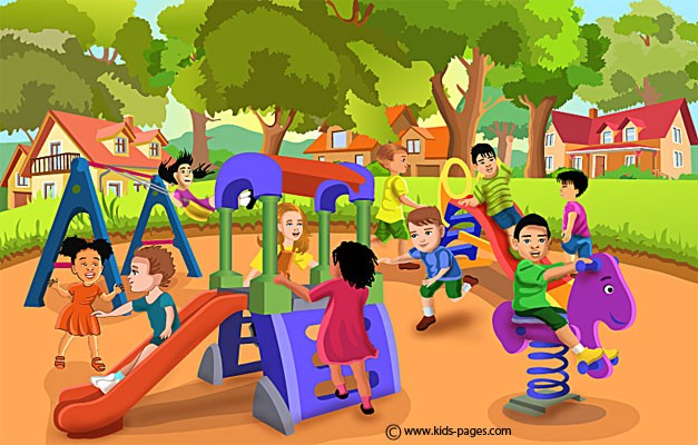 Library clipart outside Clip Free Playing Free Children