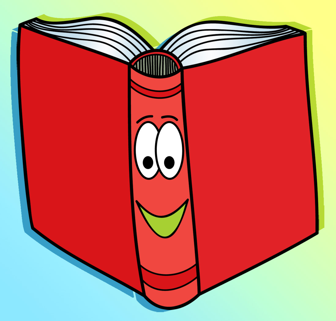 Library clipart reading and writing Teachers drawings books Art Teachers