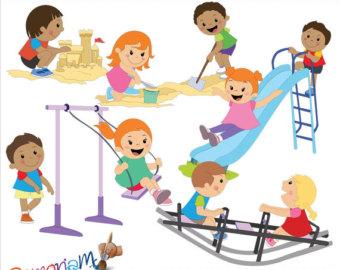 Picnic clipart playground Art Playground clipart Playground Etsy