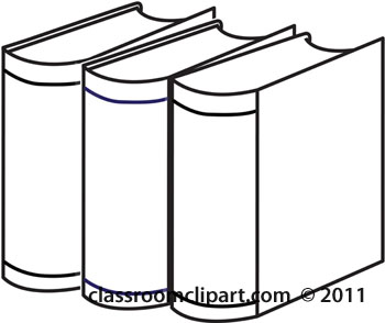 Book clipart outline Black white collection book Stack