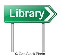 Library clipart sign Stock Illustration  art Illustrations